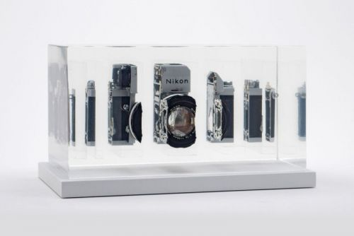 These Vintage Cameras Were Sliced Up and Frozen in Resin