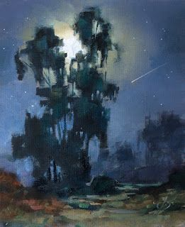 SHOOTING STAR, NOCTURNE, MOONLIGHT by TOM BROWN