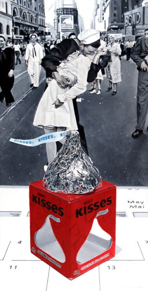 Victory Kisses in Times Square, an homage to Alfred Eisenstaedt