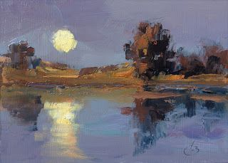 MOONLIGHT OIL PAINTING by TOM BROWN