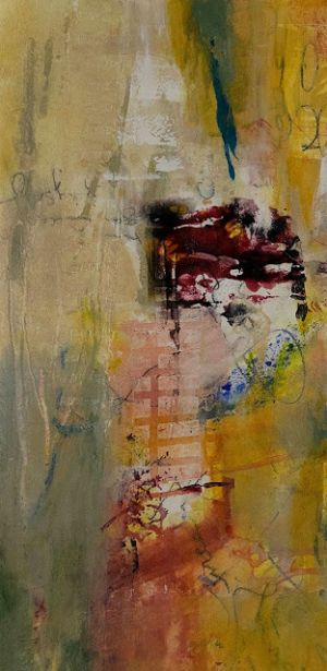"""Mixed Media Art, Abstract Painting, Contemporary Art, Expressionism, """"Relic"""" by Contemporary Artist Tracy Lupanow"""