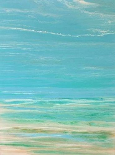 """Contemporary Seascape, Abstract Seascape, Coastal Living Decor, Fine Art """"Whispers on the Water"""" by International Contemporary Artist Kimberly Conrad"""