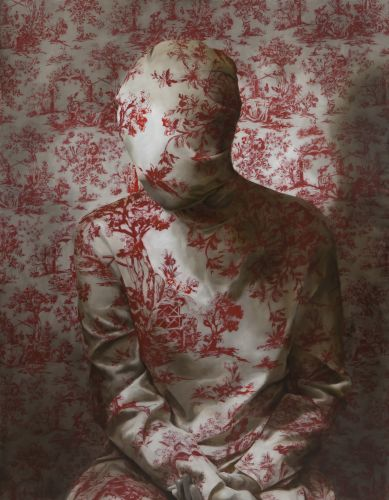 Swaths of Old-Fashioned Fabric Obscure Faces and Bodies in Unsettling Portraits by Markus Åkesson