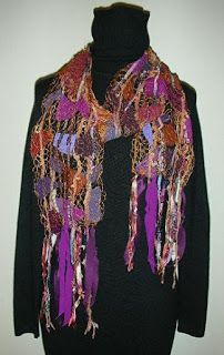 "Scarf, Wearable Art Artful Apparel, ""SHARDS PROMIANACE SCARF - VINTAGE WINE"" by Colorado Artist and Designer Gerri Calpin"