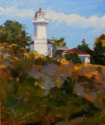 """Widows Walk"" plein air landscape by Robin Weiss"