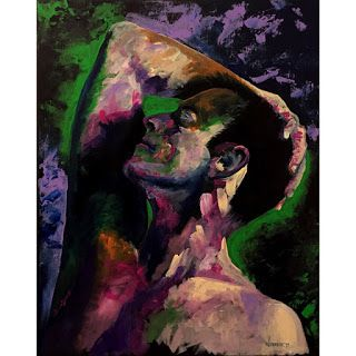 Mark Webster - Ben P. 1009 Abstract Figurative Portrait Painting