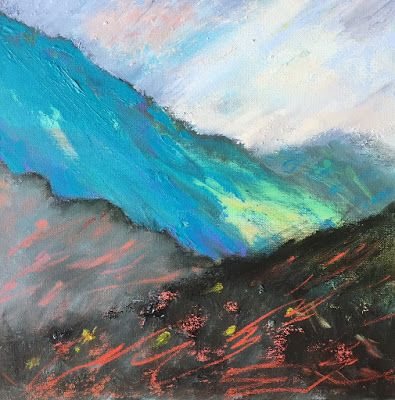"Abstract Contemporary Landscape, ""Mountain View,"" by Amy Whitehouse"
