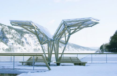 """Viewing Platform with Canopy and Amphitheater / OOO """"ADM"""""""