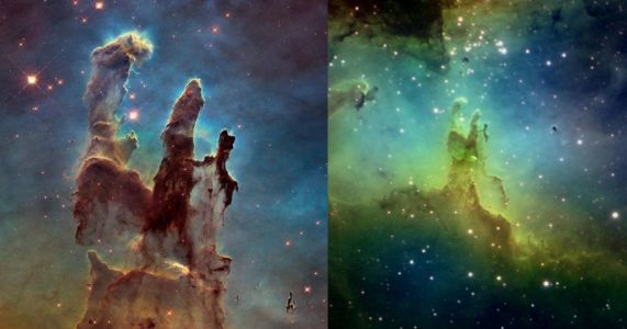'Pillars of Creation' Photos: NASA vs. a Backyard Photographer