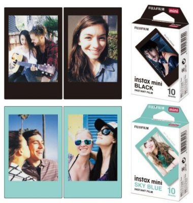 Fujifilm to Launch New Black and Blue Instax Film Colors
