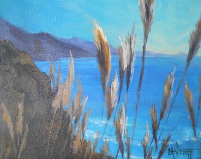 California Landscape, Coastal Wall decor, Small Oil Painting, Daily Painting, 8x10