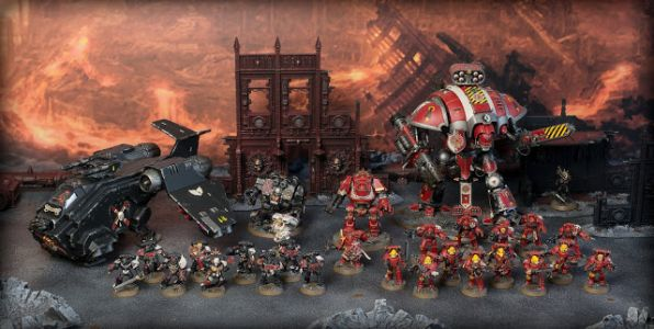 Stahly's Blood Angels / Knight Questoris Army