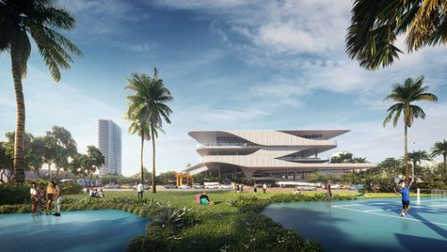 Brooks + Scarpa Reveals Proposal for Miami's Aquatic Center and Park