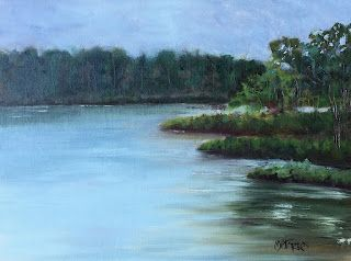 Botany Bay, by Melissa A. Torres, 12x9 oil on canvas panel