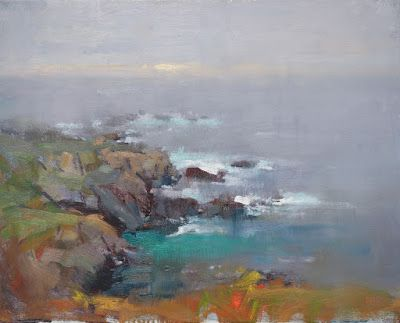 Moody Evening, Garrapata, Big Sur - 16in x 20in - Oil on Canvas