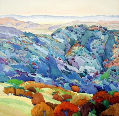 "California Watercolor Association 48th National Exhibition to include ""Blue Ridge"" , juried by Dean Mitchell"