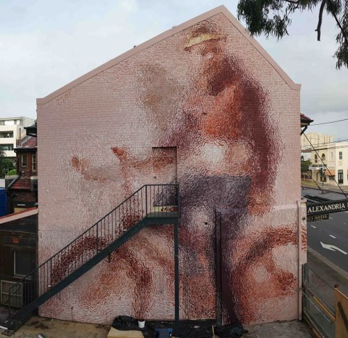 """""""The Riders"""" by Fintan Magee in Sydney, Australia"""