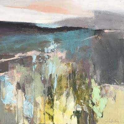 "Contemporary Abstract Landscape Art Painting,""ROAD TO UNSEEN DESTINATION"" by Intuitive Artist Joan Fullerton"