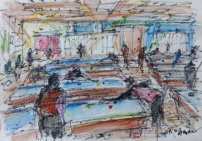 Sketches at J Billiards Club
