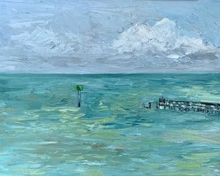 """""""Aransas Bay View,"""" by Melissa A. Torres, 8x10 oil on panel"""