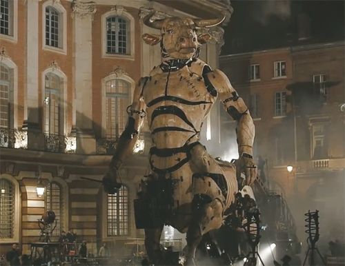 A 46-Foot-Tall Minotaur Roams the Streets of Toulouse, France in La Machine's Latest Urban Opera