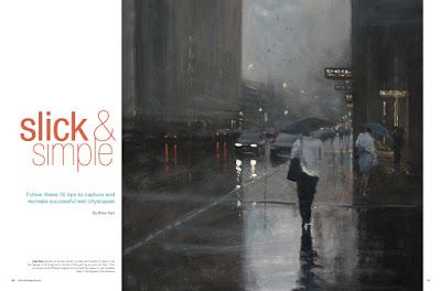 Rain painting article in the Acrylic Artist magazine