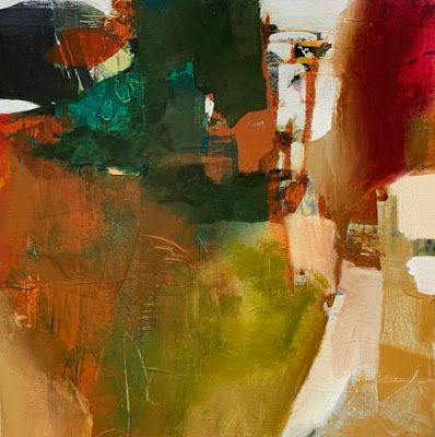 """Contemporary Abstract Painting, Expressionism """"SUMMER REVERIE"""" by Intuitive Artist Joan Fullerton"""