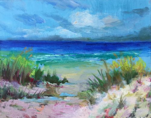 "Contemporary Landscape, ""Sand in my Toes 2,"" by Amy Whitehouse"