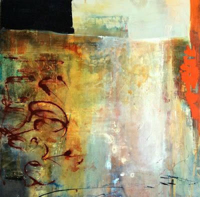 """Contemporary Abstract Painting """"Incidence at the Edges"""" by Intuitive Artist Joan Fullerton"""