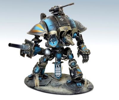 Showcase: Thousand Sons Renegade Imperial Knight by Aurélie