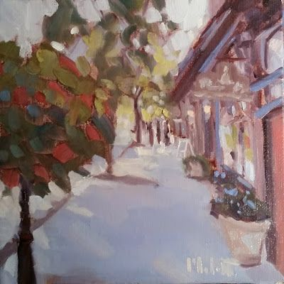 Americana Small Town Painting Main Street Artwork