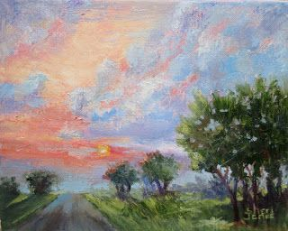 Effects of the Morning Light, New Contemporary Landscape Painting by Sheri Jones
