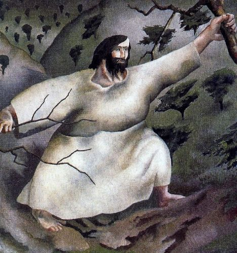 Lent - Stanley Spencer, Christ in the Wilderness Driven by the Spirit