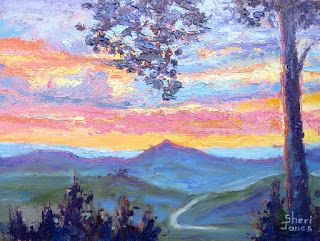 Patterns of Color Sky, New Contemporary Landscape Painting by Sheri Jones