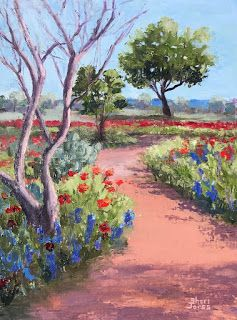 Poppy Trail, New Contemporary Landscape Painting by Sheri Jones