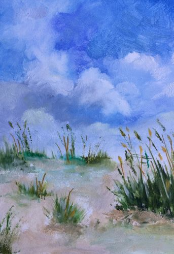 "Contemporary Beach, ""Sand Dunes 2,"" by Amy Whitehouse"