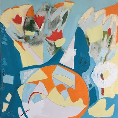 "Contemporary Art, Abstract,Expressionism, Studio 9 Fine Art ""Set Yourself Free"" by International Abstract Artist Amanda Saint Claire"