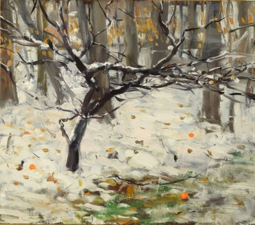 Winter Dogwood with Oranges for the Deer
