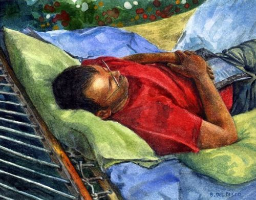 Watercolor - Summer Sunday