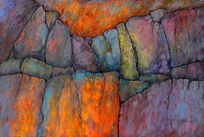 """Abstract Geologic Landscape Fine Art Print """"Ancient Mysteries"""