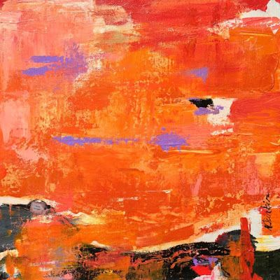"""Contemporary Abstract Expressionist Fine Art Painting """"TAKE FLIGHT"""" by Oklahoma Artist Nancy Junkin"""
