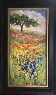 "New ""Waves of Wildflowers II"" Texas Bluebonnet Painting by Niki Gulley"