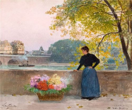 19C French Flower Seller