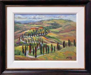 "New ""Serpentine Drive"" in Tuscany by Palette Knife Artist Niki Gulley"