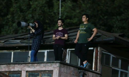 Female Iranian Photographer Banned from Stadium Shoots Match from Roof