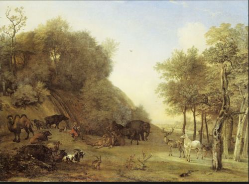 Paulus Potter. Dutch painter of animals. Baptized this day in 1625