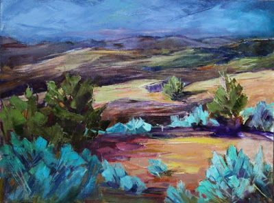 "Contemporary Colorado Landscape Painting, Mountains, Fine Art Oil Painting ""December Light"" by Colorado Contemporary Fine Artist Jody Ahrens"