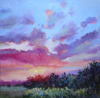 Dynamic Morning Display, New Contemporary Landscape Painting by Sheri Jones