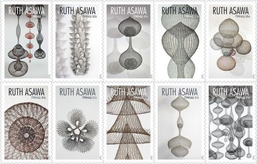 Artist Ruth Asawa's Mesh Wire Sculptures Adorn New Stamps from USPS