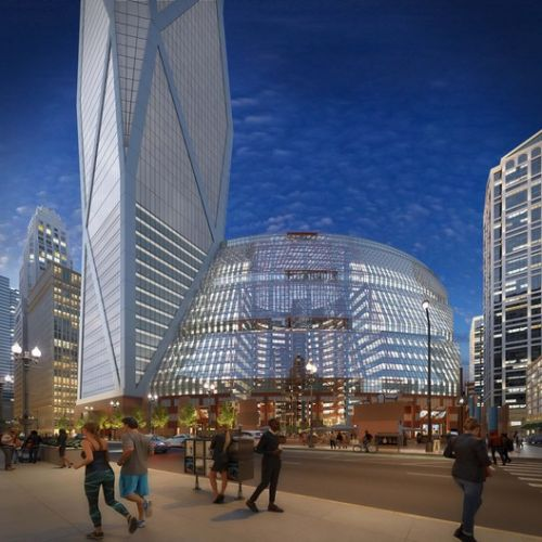 New Images Released of Proposed Skyscraper Addition to Chicago's Thompson Center